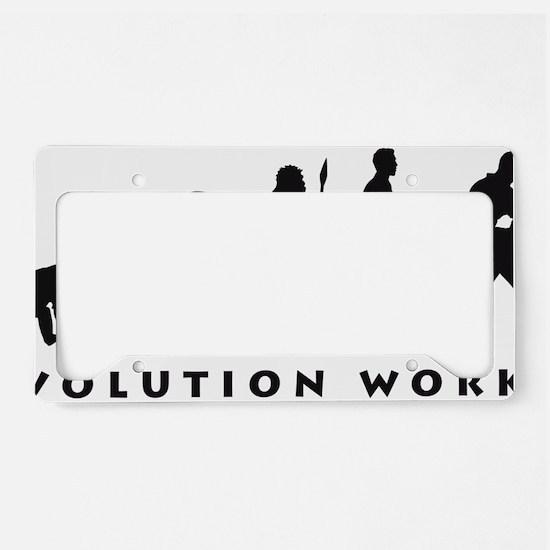 evolution power drill License Plate Holder
