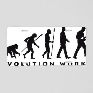 evolution power drill Aluminum License Plate