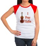 I Pray Violin Women's Cap Sleeve T-Shirt