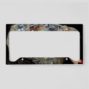 Molybdenite in granite License Plate Holder