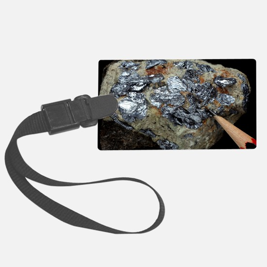 Molybdenite in granite Luggage Tag