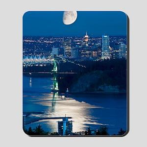 Moon over Vancouver Mousepad