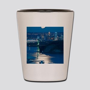 Moon over Vancouver Shot Glass