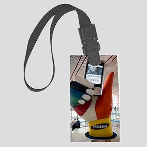 Mobile phone advert display Large Luggage Tag