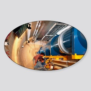 Mock-up of Large Hadron Collider at Sticker (Oval)