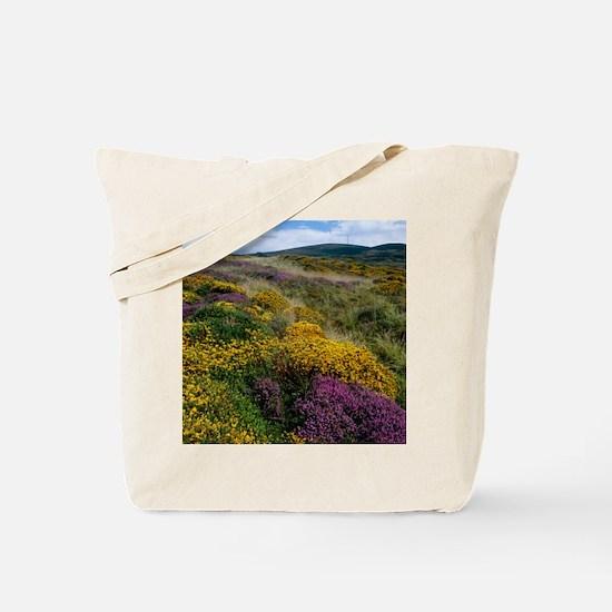 Mixed wildflowers on moorland Tote Bag