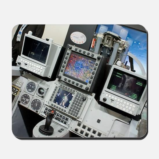 Military aircraft flight simulator Mousepad