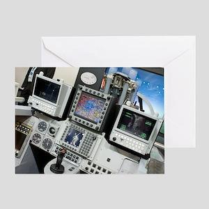 Military aircraft flight simulator Greeting Card