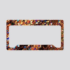 Mica schist, thin section, po License Plate Holder
