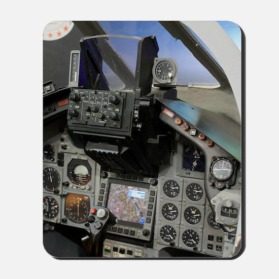 Military aircraft cockpit Mousepad