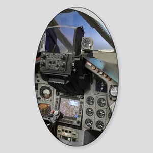 Military aircraft cockpit Sticker (Oval)
