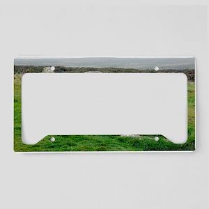 Men-an-tol standing stones License Plate Holder