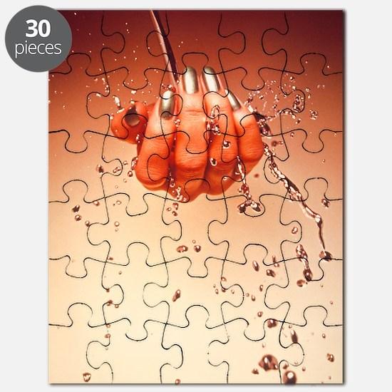 Mercury flowing through fingertips Puzzle