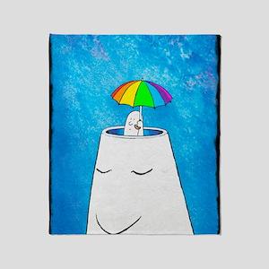 Mental health protection, artwork Throw Blanket