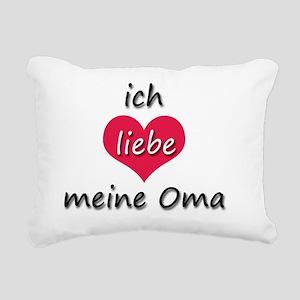 ich liebe meine Oma I lo Rectangular Canvas Pillow