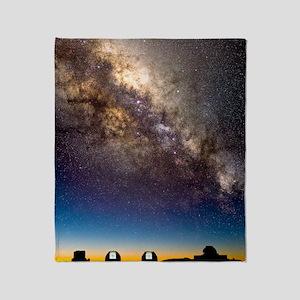 Mauna Kea telescopes and Milky Way Throw Blanket