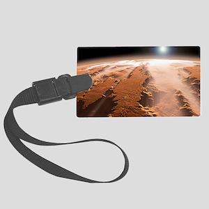 Martian surface, artwork Large Luggage Tag