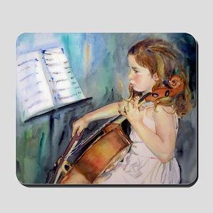 Little Girl Cellist Mousepad