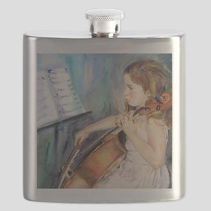 Little Girl Cellist Flask