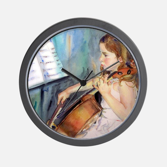 Little Girl Cellist Wall Clock