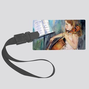Little Girl Cellist Large Luggage Tag