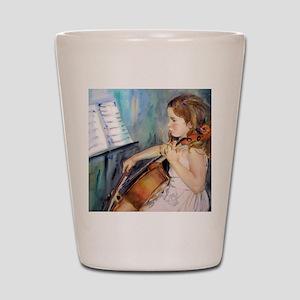 Little Girl Cellist Shot Glass