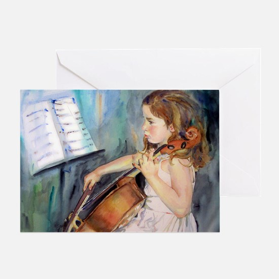 Little Girl Cellist Greeting Card