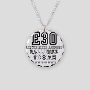 TEXAS - AIRPORT CODES - E30  Necklace Circle Charm