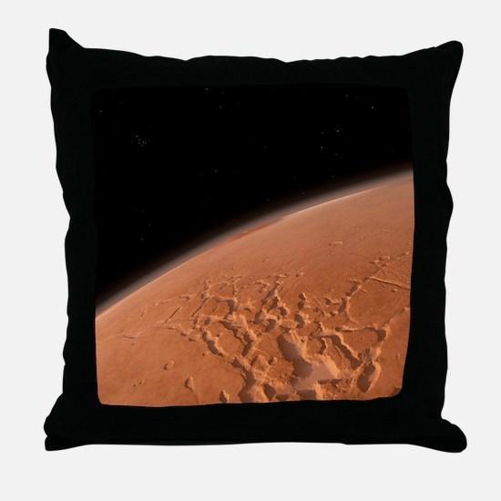 Martian surface, artwork Throw Pillow