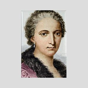 Maria Agnesi, Italian mathematici Rectangle Magnet