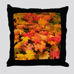 Maple (Acer japonicum vitifolia) leav Throw Pillow