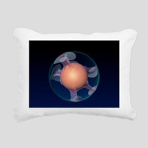 Mantle convection, 3-D c Rectangular Canvas Pillow
