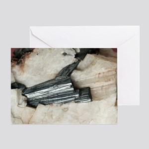 Manganite in barite Greeting Card