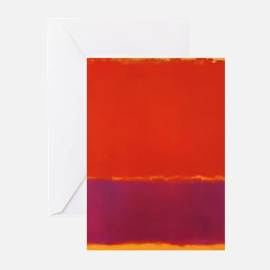 ROTHKO RED PURPLE YELLOW Greeting Cards