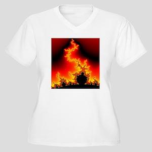 Mandelbrot fracta Women's Plus Size V-Neck T-Shirt