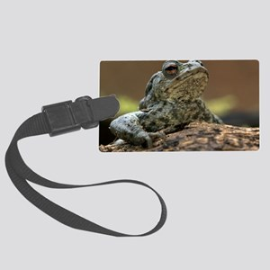 Male common toad Large Luggage Tag