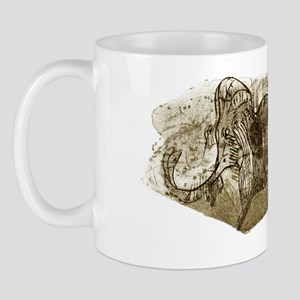 Mammoth, prehistoric bone art Mug