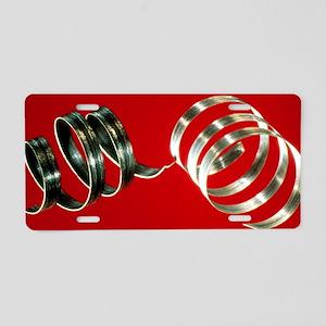 Magnesium ribbons Aluminum License Plate