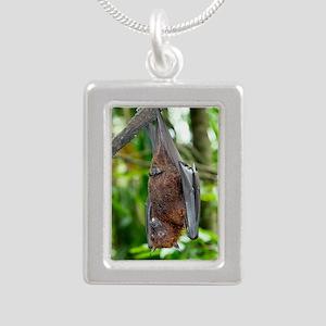 Malayan Flying Fox Silver Portrait Necklace