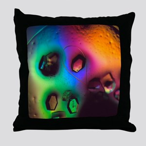 Lysozome protein crystals Throw Pillow