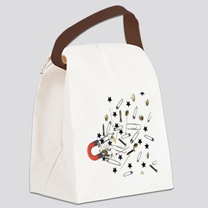 Magnet attracting ferromagnetic o Canvas Lunch Bag
