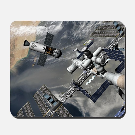 Lunar tug and the ISS, artwork Mousepad