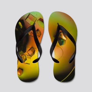 Lysozome protein crystals Flip Flops