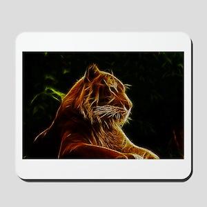 Abstract Bengal Tiger Woodcut Mousepad
