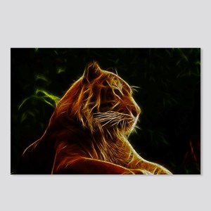 Abstract Bengal Tiger Woodcut Postcards (Package o