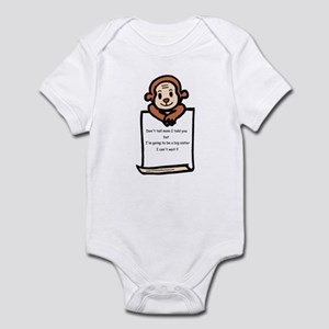 Lett- monkey-big sister Infant Bodysuit