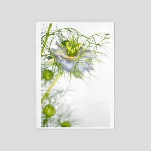 Love in the mist flower (Nigella sp 5'x7'Area Rug