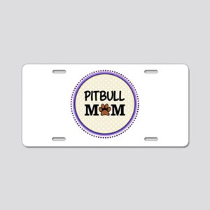Pitbull Dog Mom Aluminum License Plate