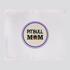 Pitbull Dog Mom Throw Blanket