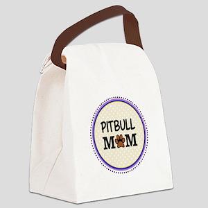 Pitbull Dog Mom Canvas Lunch Bag